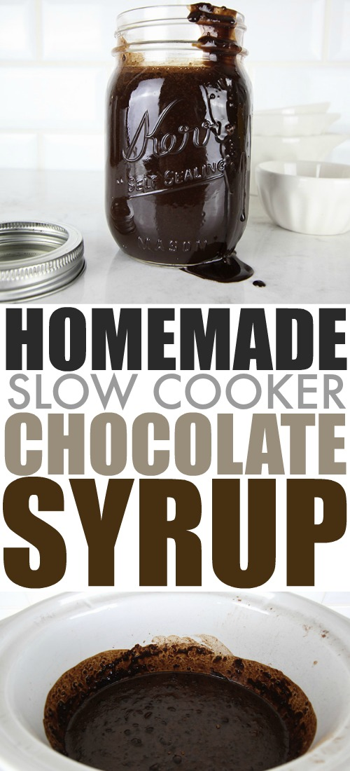 Once you know how easy it is to make this slow cooker chocolate syrup, you'll never want to use store bought again! Use it on everything!