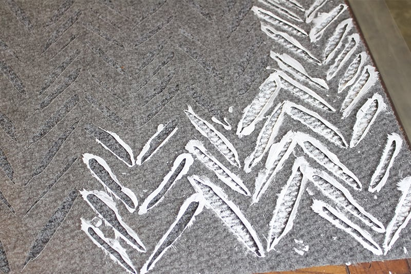 In this post, learn how to make your own DIY stencilled rug to add pattern and interest to any space without breaking your budget!