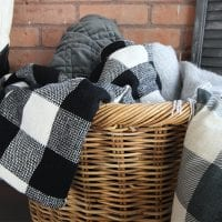 Easy DIY Buffalo Check Throw Blanket
