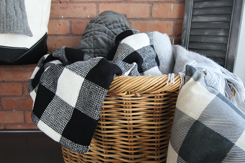 This easy DIY buffalo check throw blanket is a cozy, affordable way to update the decor in your home for the winter months. These throw blankets make great gifts as well!