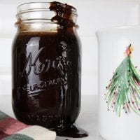 Slow Cooker Chocolate Peppermint Syrup