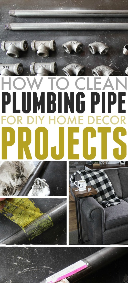 If you have a fun DIY home decor project using plumbing pipe that you'd like to try, this will be a necessary first step. Here's how to clean plumbing pipe.
