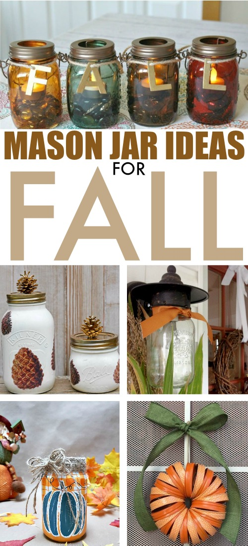 Whether you fill them with delicious treats, or use them for home decor, mason jars are the perfect thing to have around in the fall. Here are some great fall mason jar ideas!