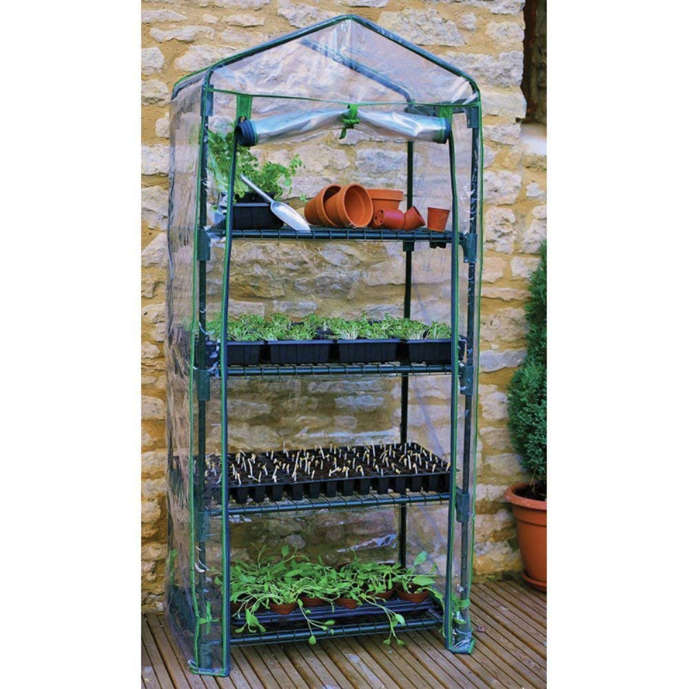 Fun and Practical Gift Ideas for Veggie Gardeners!  4-Tier Mini Gardening Greenhouse