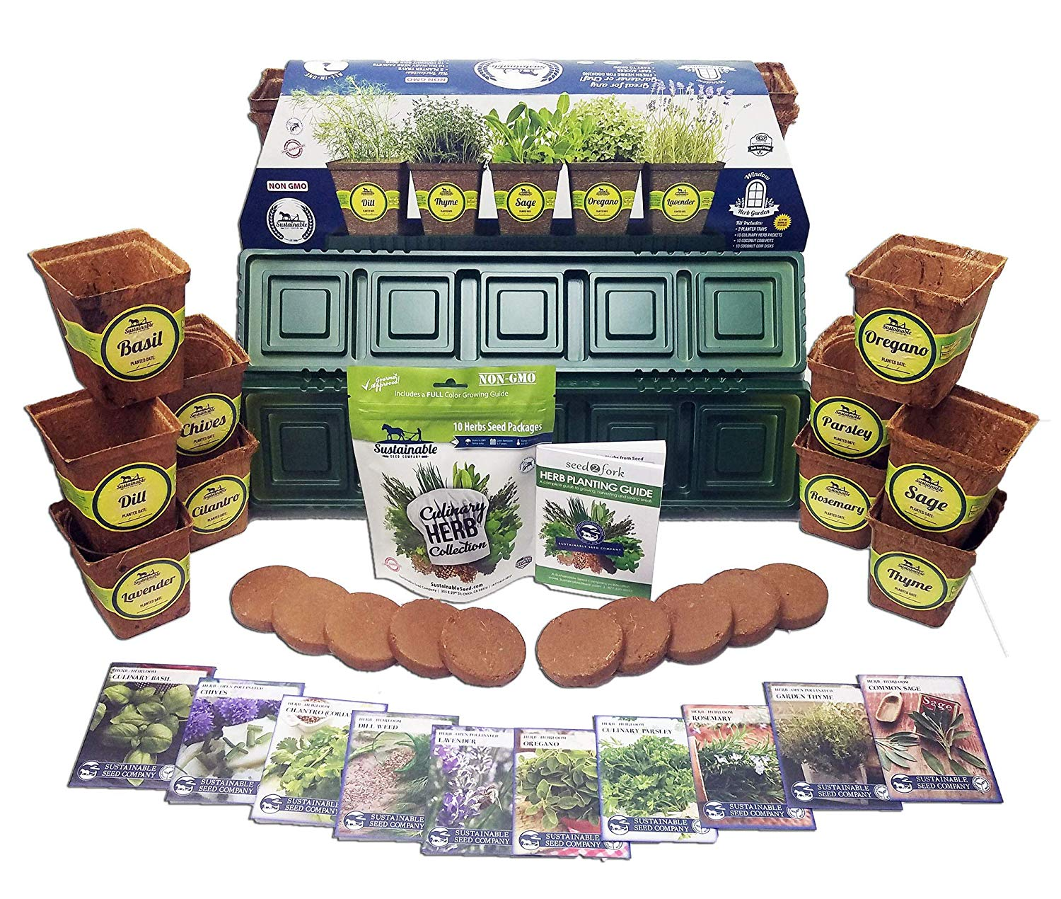 Fun and Practical Gift Ideas for Veggie Gardeners!  Windowsill Herb Garden Kit