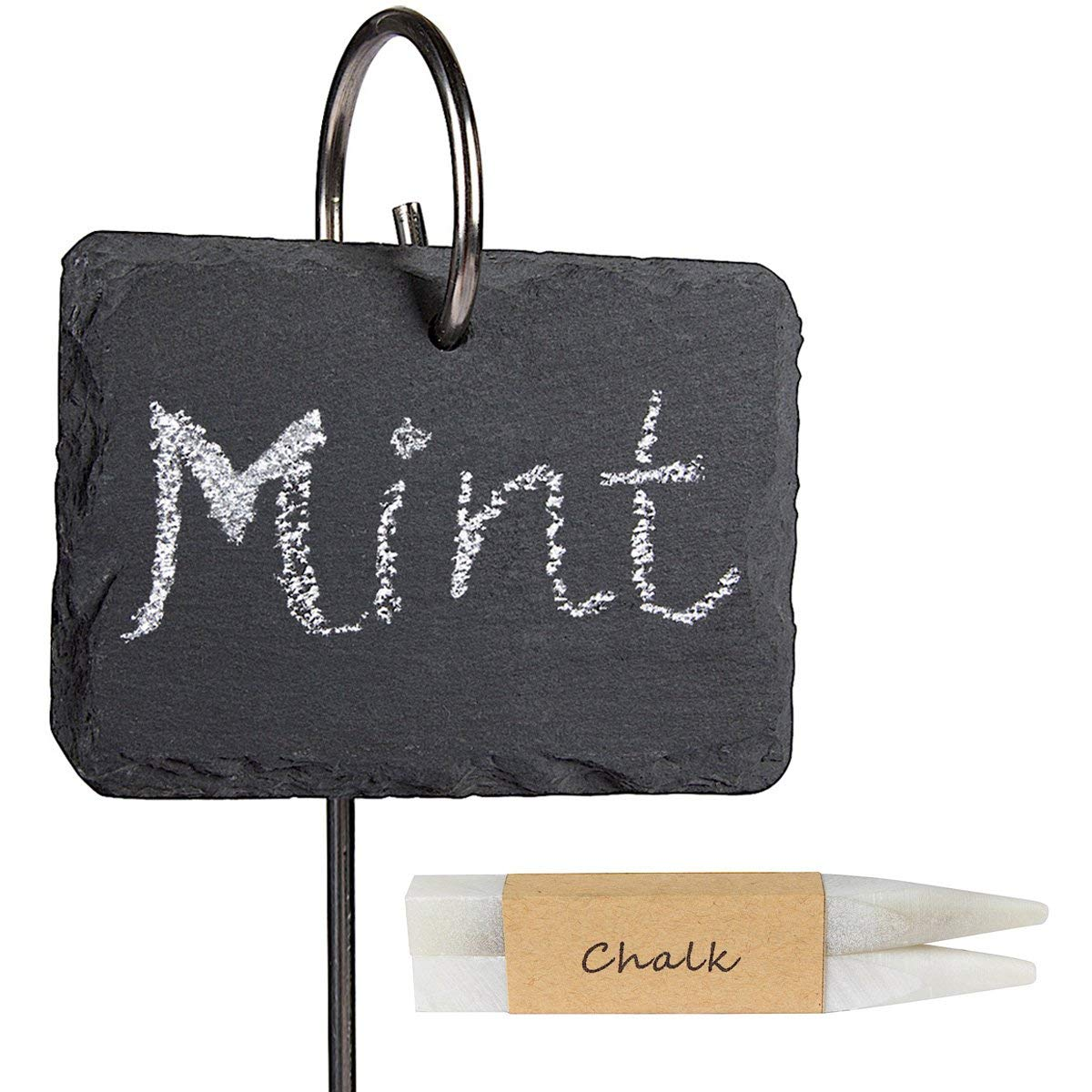 Fun and Practical Gift Ideas for Veggie Gardeners!  Slate Plant Labels with Stainless Steel Stakes and Chalk Pencils