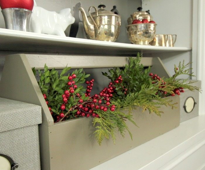 Dollar Store Christmas Decor - Red berry picks