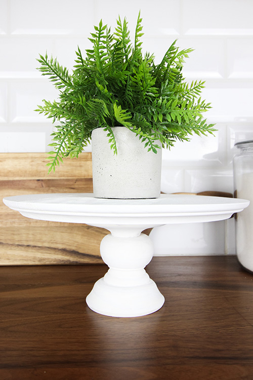 DIY Cake Stand (Under $10) by The Creek Line House