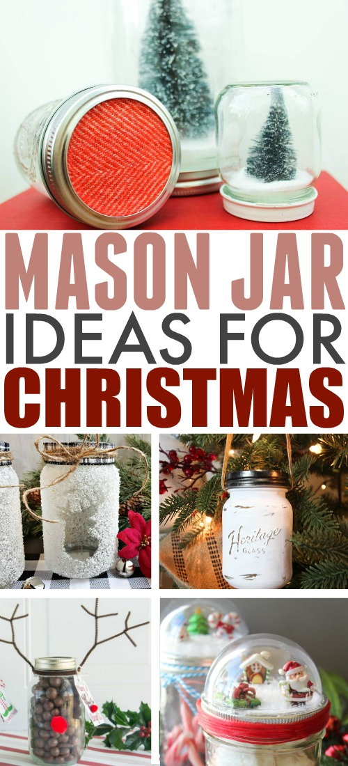 Is there anything a mason jar can't do? Here are some amazing mason jar ideas for Christmas to help you with gift-giving, tree-trimming, and everything in between!