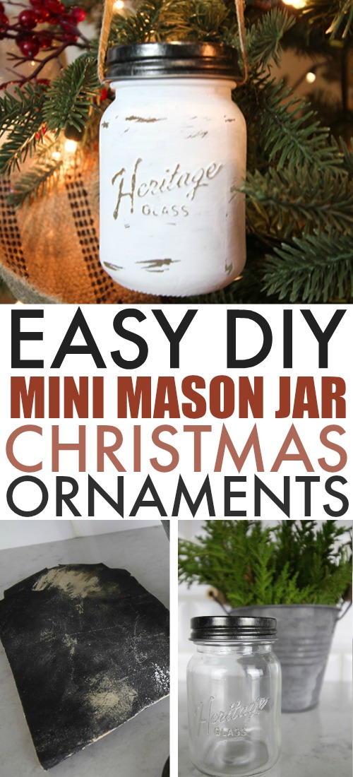 These mini mason jar Christmas ornaments will bring a touch of farmhouse style to your Christmas tree this year. These can be made in minutes and will add a ton of personality to your Christmas decor!