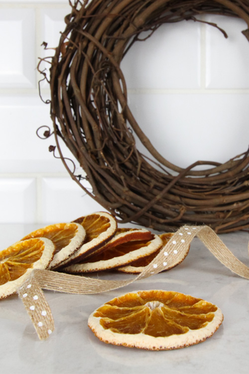 DIY Christmas Basics - How to Dry Orange Slices for Decorating and for Recipes.