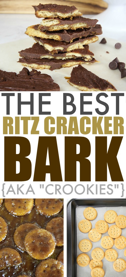 "This Ritz cracker bark will be the perfect, unexpected addition to your cookie tray this holiday season! These ""crookies"" taste a bit like a Twix candy bar!"