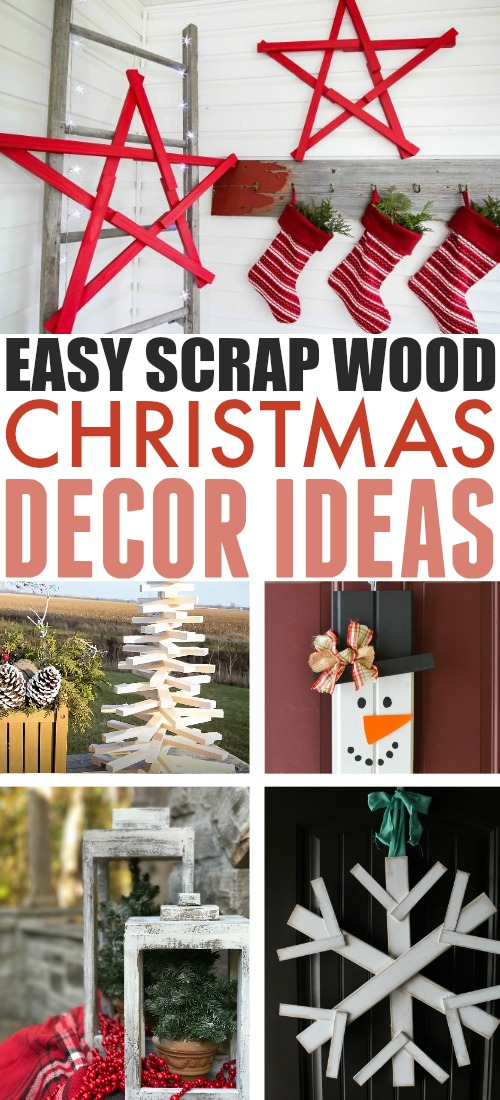 These scrap wood Christmas decor ideas will help you turn that messy junk wood pile into beautiful Christmas decorations!