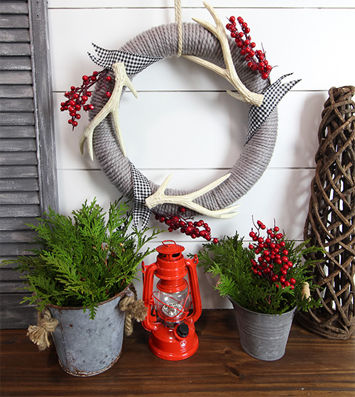 Dollar Store Christmas Decor - Yarn
