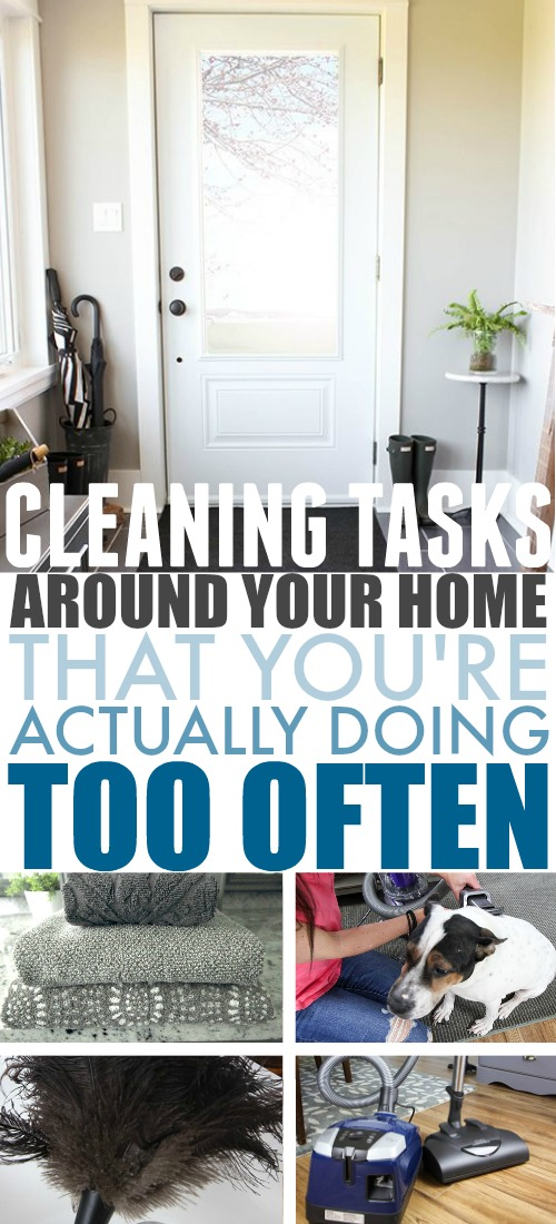 We often see lists talking about things that we might be forgetting to clean as often as we should, but there are some cases where the opposite is true. I thought it might be a welcome change to point out a few things that you can probably take a break from cleaning once in awhile.
