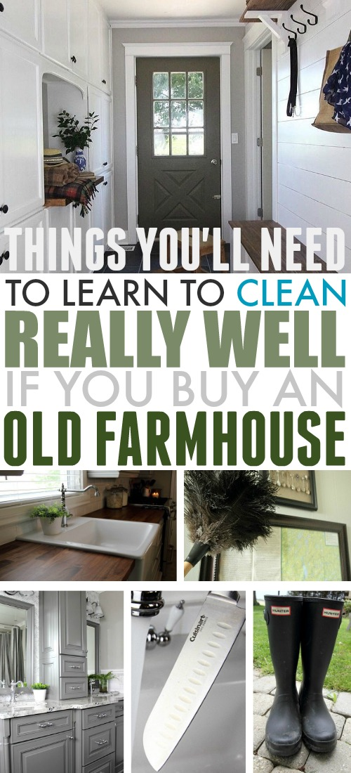 Cleaning your farmhouse might turn out to be a little different in some ways than cleaning a house in the city. Here are some of the things I've noticed over the years that you'll need to learn to clean really well if you want to live in an old farmhouse!