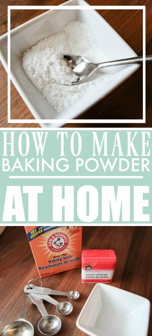 How to make baking powder at home if you run out!