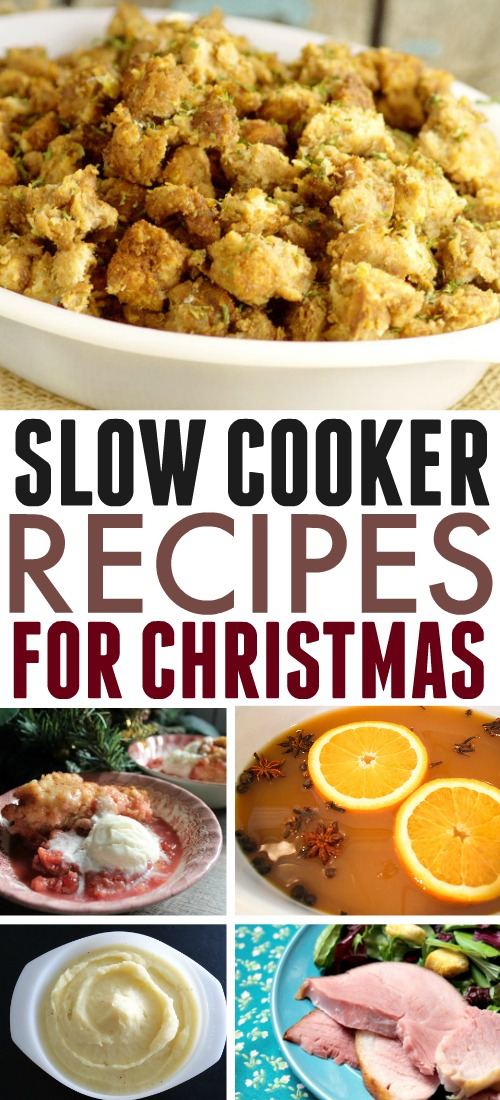Try these slow cooker Christmas recipes if you're looking to make Christmas dinner preparations a whole lot easier this year! Borrow a few extra Crock Pots and spend the day relaxing instead of over a hot stove!