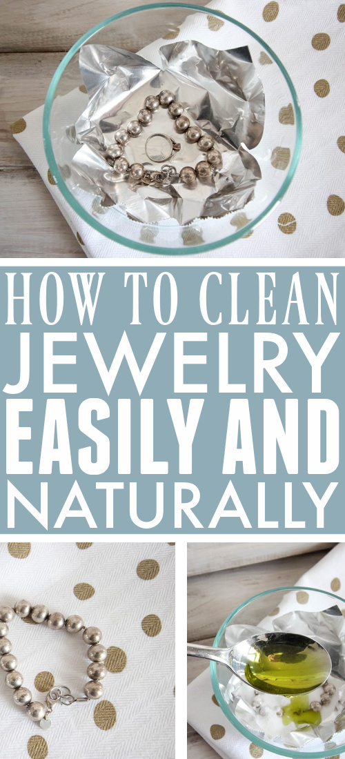 This is the best, quickest way to clean jewelry naturally! It's easy, works on almost any type of jewelry, and doesn't use a single harsh chemical!