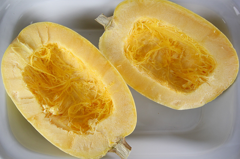 Slow cooker spaghetti squash is such a great healthy food trick to know about. Use it in place of pasta with your favourite sauces, or even in place of noodles in stir fry!