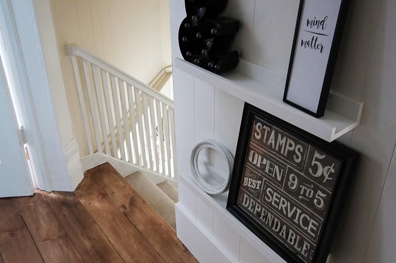 Organizing tricks for old homes: Photo ledge shelves