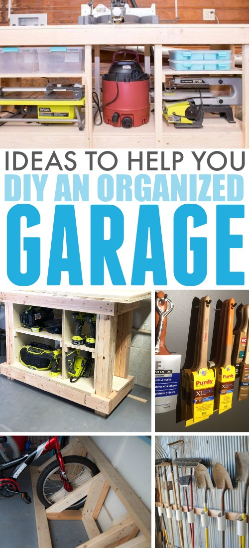 These garage organization ideas will be just the inspiration you need if your garage could use a little tidying up before spring!