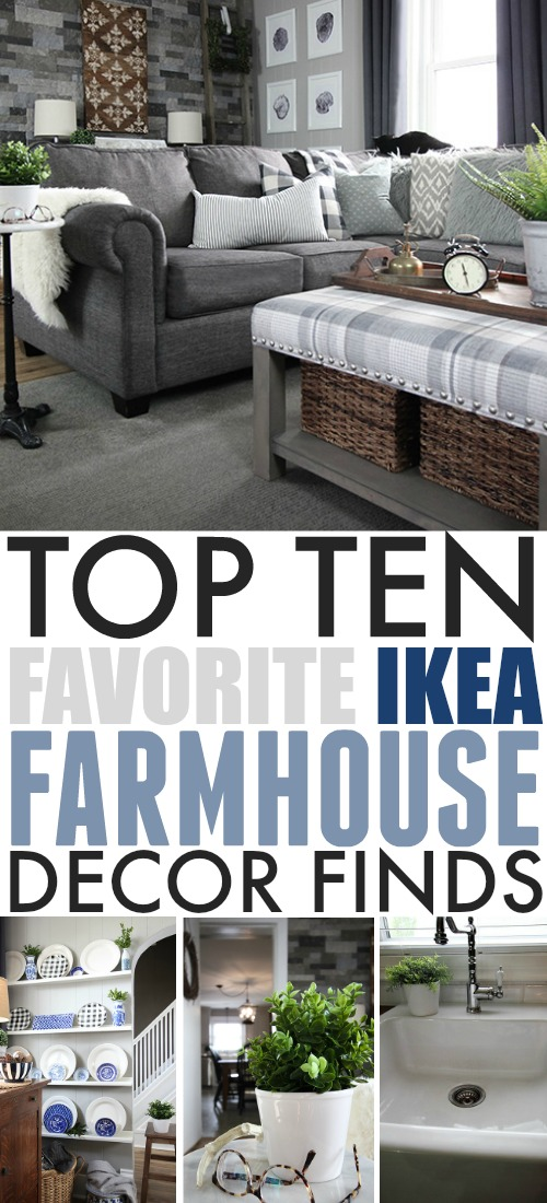 You might think more of very modern style when you think of IKEA, but that place is actually a treasure trove of items that fit in perfectly in a farmhouse style home! Here are some of my favourite IKEA farmhouse decor finds.