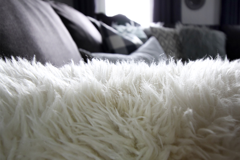 IKEA farmhouse decor finds: Sheepskin rug