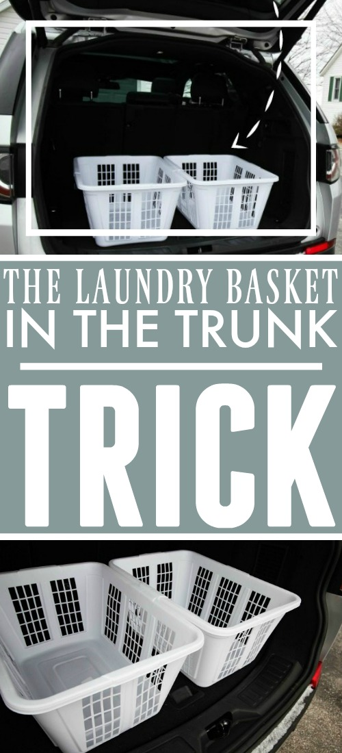 The Laundry Basket in the Trunk Organizing Trick