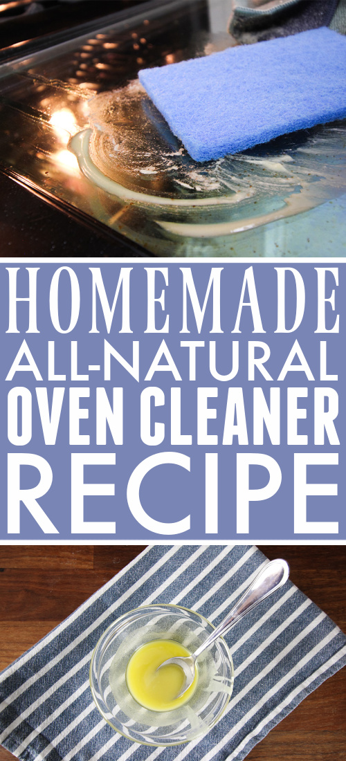 Use this homemade natural oven cleaner the next time you need to clean your oven for shiny results without all the harsh chemicals!