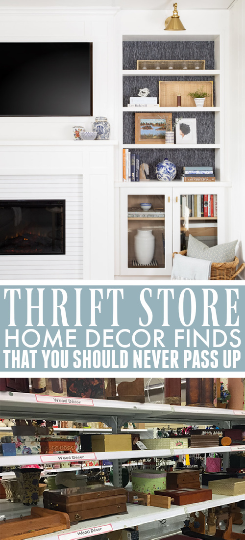 If you love the idea of creating a unique, character-filled home without having to spend an arm and a leg, then your local thrift store is your best friend! Here's my list of thrift store home decor finds that you should never pass up.