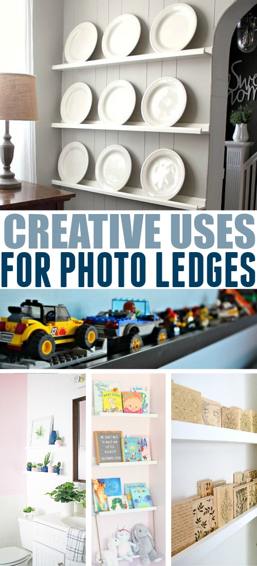 These creative uses for photo ledges will will you easily transform the way your home looks and functions even if you're extra low on space!