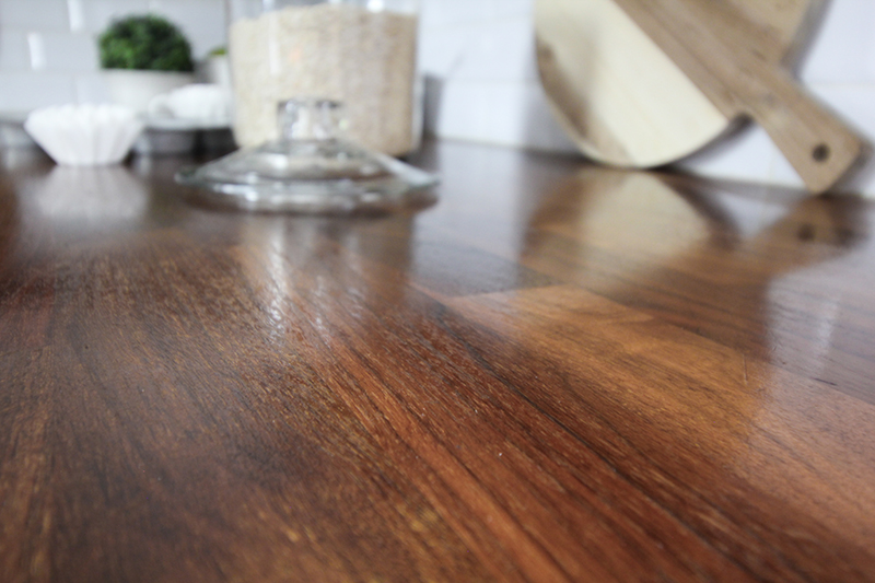 Here's how our IKEA wood counters are holding up after three years.  After Oiling