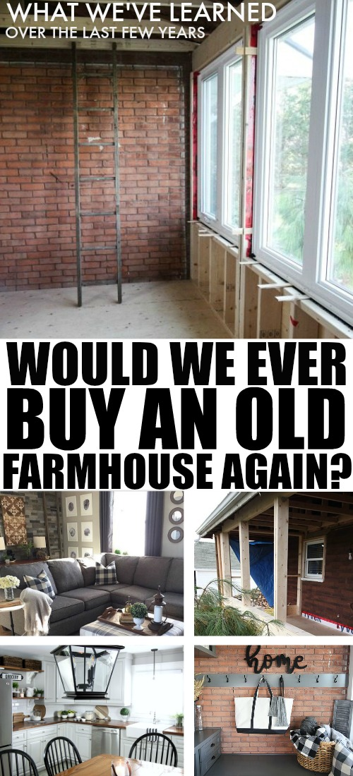"We've definitely had more than our fair share of ""What in the world have we gotten ourselves into?"" moments over the past seven and a half years since we moved in. I thought it would be fun to do a little review of what we've learned here so far and answer the question ""Would we still buy a farmhouse?"""