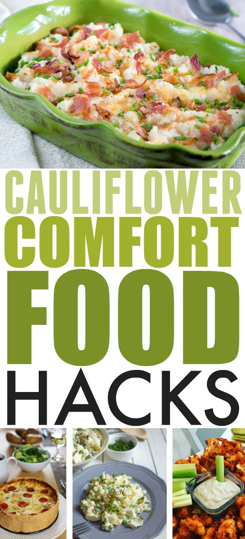 Cauliflower is one of those magical foods that makes healthy eating a lot easier, and definitely much more delicious. Here are some of my favourite cauliflower comfort food hacks!