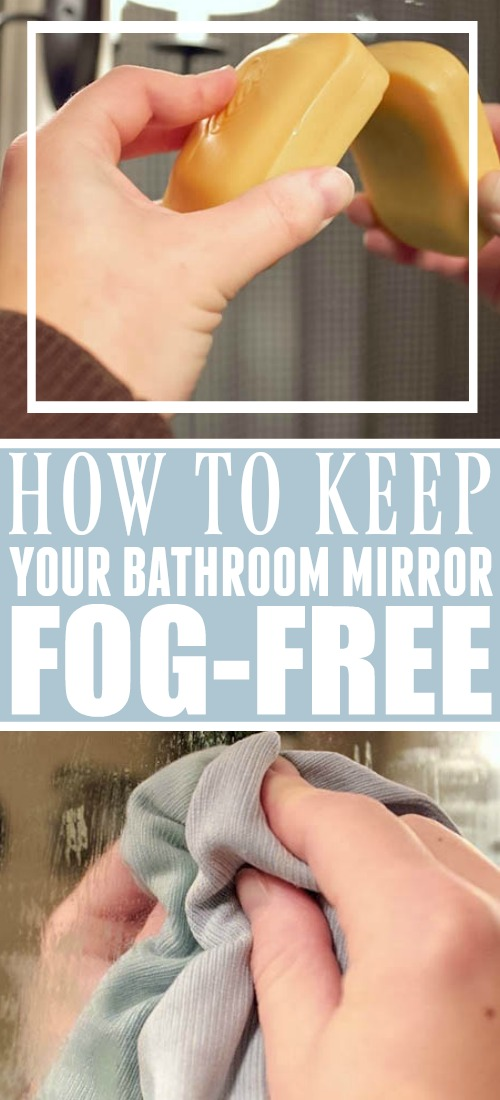 Keeping your bathroom mirror fog-free!