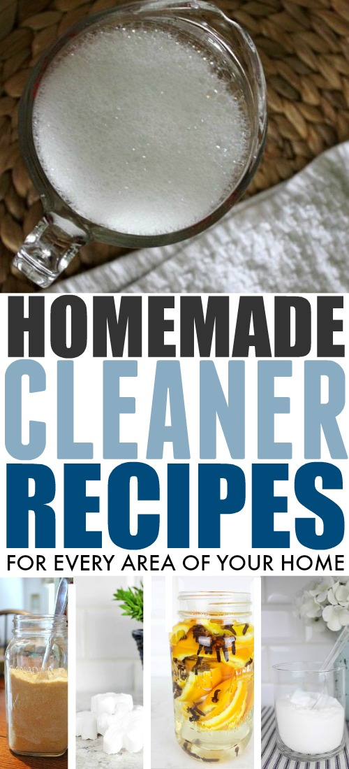 There's no need to buy an entire aisle of the grocery store just to clean your house! Try these simple homemade cleaners instead!