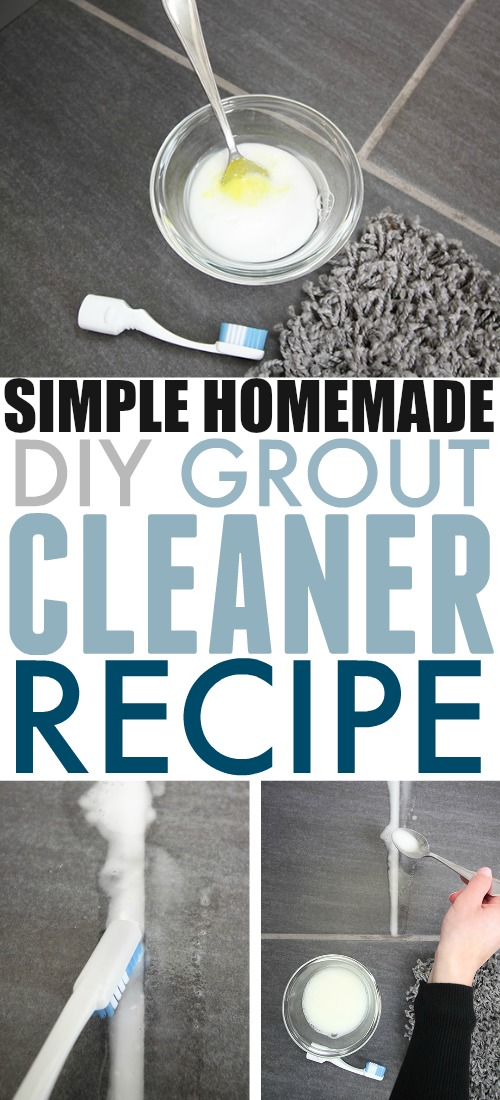 This is the best homemade grout cleaner recipe I've tried. It's great for just freshening up grout in a bathroom or on a backsplash, but it also works really well for deep cleaning dirty mudroom floor grout as well!