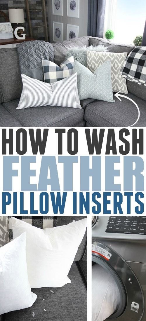 The down pillow inserts from your favourite throw pillows might seem like they would need special care, but the cleaning process is actually surprisingly simple! Here's how to wash feather pillow inserts.