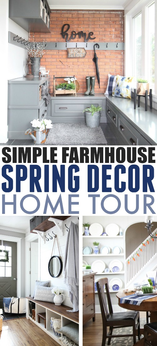 Spring has finally arrived to our little corner of Ontario, Canada! Here's my spring farmhouse home tour for 2019! Come on in!