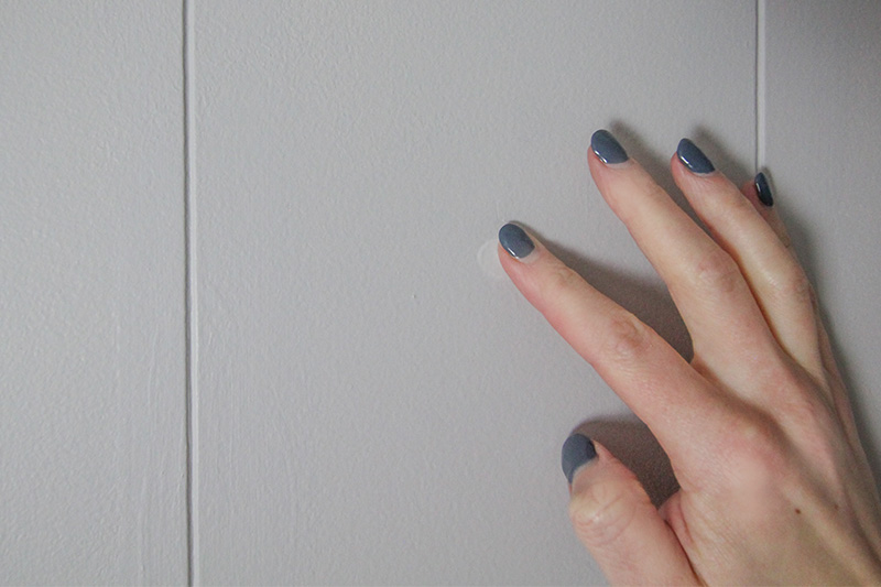 Try the white glue in the nail hole trick if you need to fill a hole in your wall quickly before painting or another DIY project!