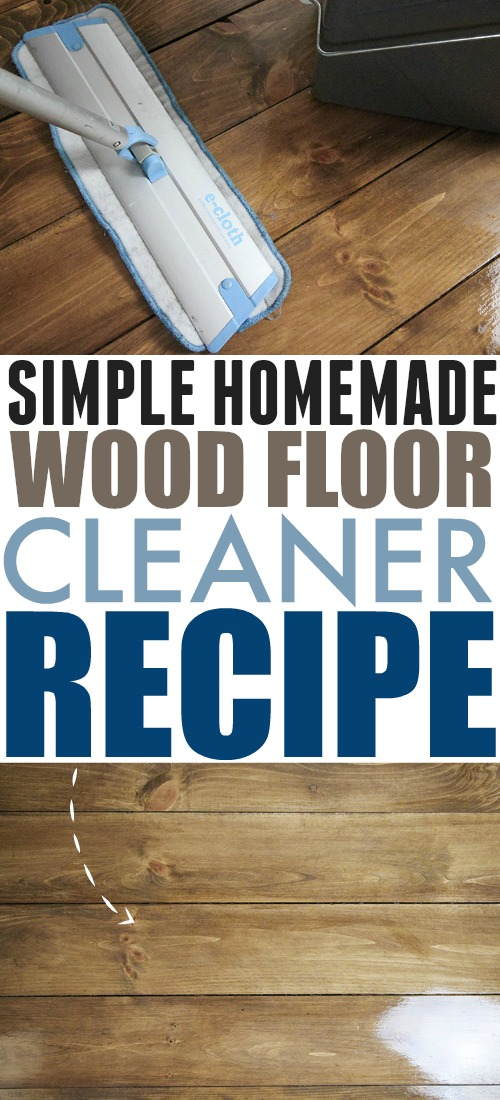If you're looking for an easy, effective, economical way to keep your wood floors sparkling, try this simple homemade wood floor cleaner recipe!