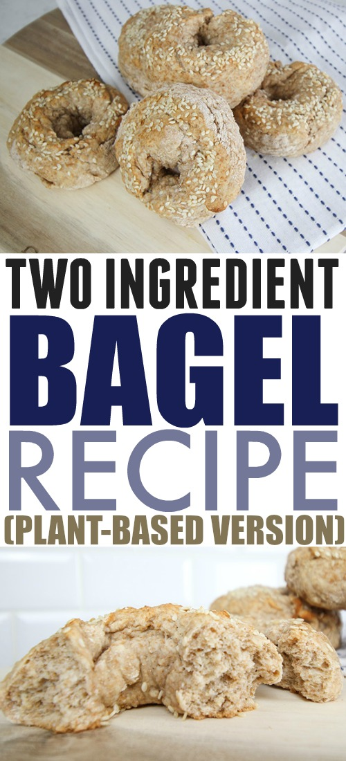 Here's a little variation on a recipe that's really popular around the internet right now! I took the two ingredient bagel recipe and changed it up a bit so it works for a plant-based diet as well!