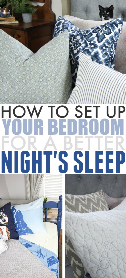 If you're looking for a way to help you get a better night's sleep, a good first step is to look at your surroundings! Here's how to set up your bedroom for better sleep.