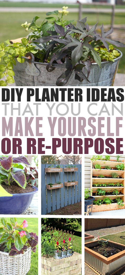 If the options for planters at the garden centre leave you feeling a little uninspired, why not try some DIY garden planters this year? Here are some of my favourite ideas for inspiration.