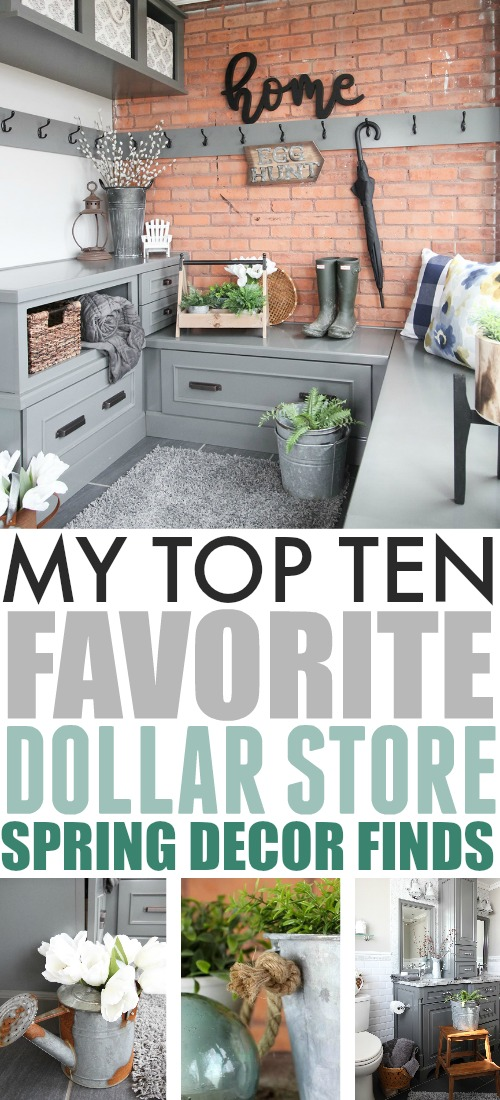 If you'd like to bring the feeling of spring to your home to celebrate the new season, but don't want to spend too much, just head to the dollar store! Many of my favourite decor pieces from over the years have actually come from this super affordable place!