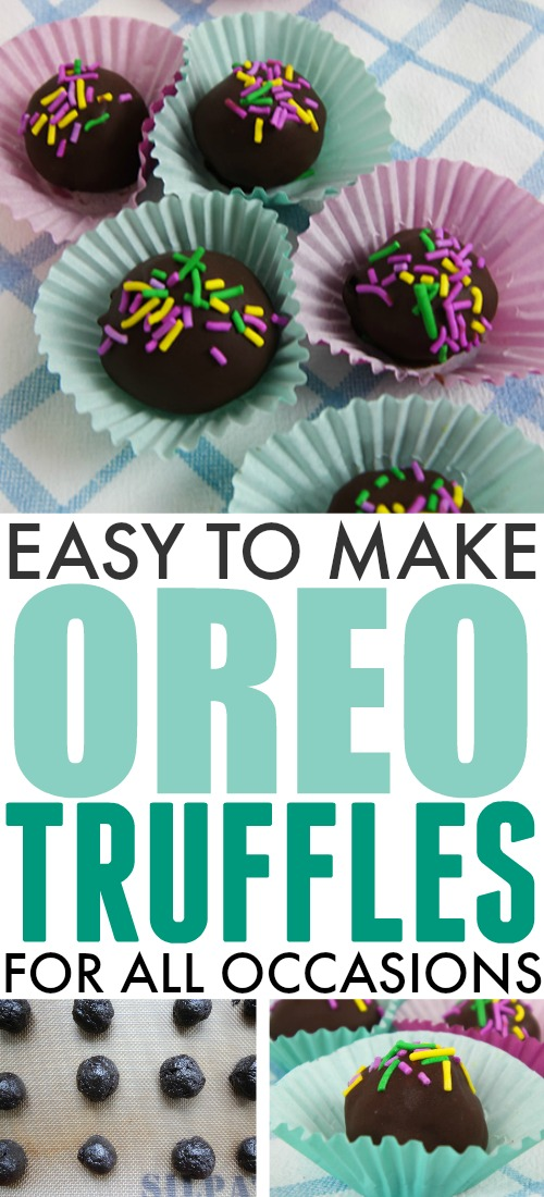 These easy Oreo truffles are a great addition to any potluck dessert table and they're perfect for any holiday or celebration!