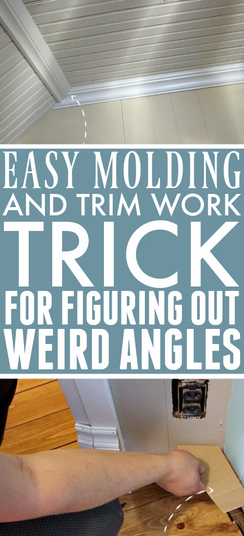 Adding or upgrading trim is a great way to update and improve an old house. But what about all those weird and wonky angles?  Here's how to figure out those angles for trim with items you already have handy in your home.