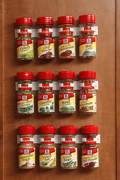 The Top Ten Spring Cleaning Helpers From Amazon - Bellemain Spice Gripper Clip Strips for Plastic Jars