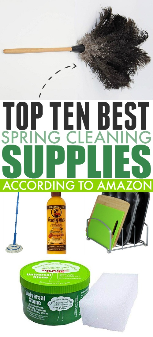 We need all the help we can get when it comes to spring cleaning. Check out our top ten spring cleaning helpers from Amazon!